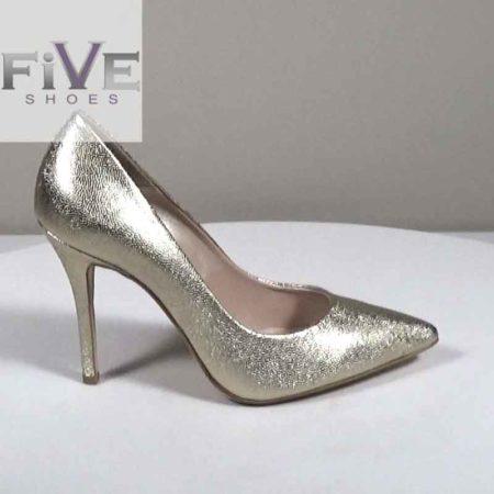 Γυναικεία Γόβα Five Shoes Δέρμα-χαβιάρι Πλατίνα H721.2301.DXB Ύψος τακουνιού 10