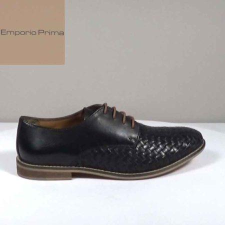 Ανδρικό Παπούτσι Χαμηλό Emporio Prima Δέρμα σταμπωτό-δέρμα Μαύρο H892.12546.DSTD