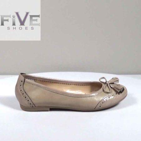 Γυναικεία Μπαλαρίνα Five Shoes Δέρμα-λουστρίνι Πούρο H1801.15684.DLR