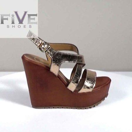 Γυναικεία Πλατφόρμα Five Shoes Δέρμα κρακελέ Χαλκός H721.1313.DCR Ύψος τακουνιού 13cm