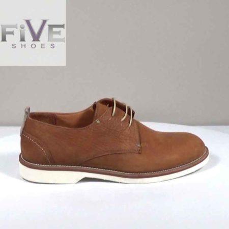 Ανδρικό Παπούτσι Δετό Five Shoes Nubuk Ταμπά H1042.C2406.N