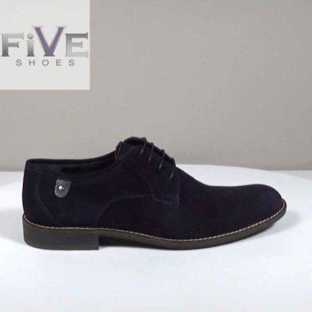 Ανδρικό Παπούτσι Δετό Five Shoes Καστόρι Μπλε H1042.P15628.K