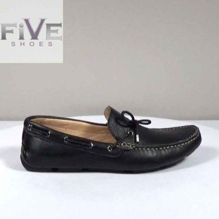 Ανδρικό Μοκασίνι Five Shoes Δέρμα Μαύρο H1042.H003.D