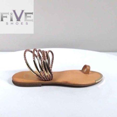 Γυναικείο Σανδάλι Five Shoes Φίδι Ταμπά H1801.16063.FD