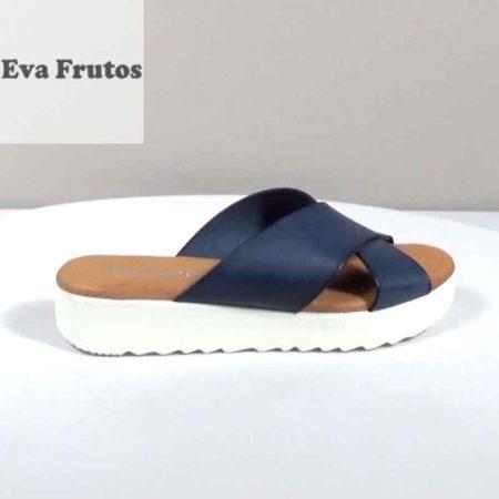 Γυναικείο Σανδάλι Eva Frutos Δέρμα Μπλε H1471.5004.D Ύψος τακουνιού 3