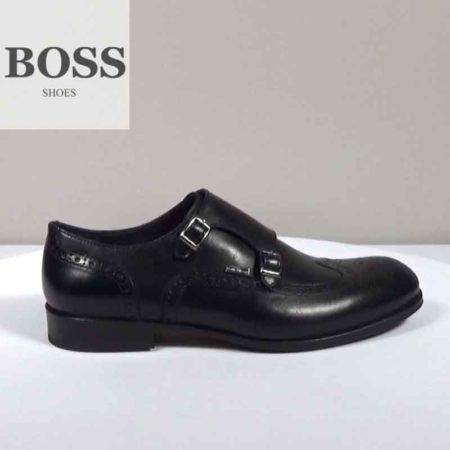 Ανδρικό Παπούτσι Δετό Boss Shoes Δέρμα Μαύρο I202.F5080.D