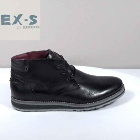 Ανδρικό Μποτάκι EX-S by Anteos Δέρμα Μαύρο I812.109.D