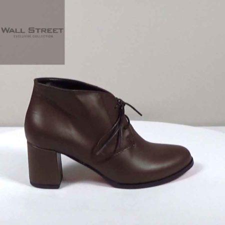 Γυναικείο Ημίμποτο Wall Street Δέρμα Καφέ I481.6739.D Ύψος τακουνιού 6cm