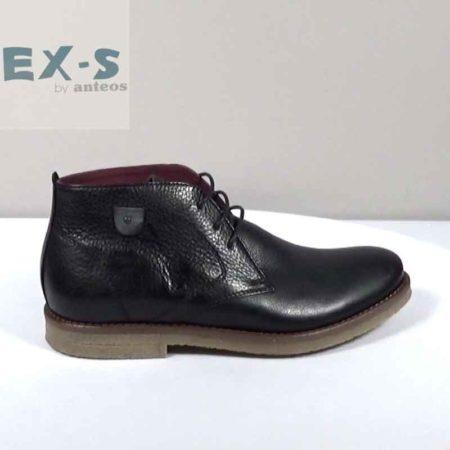 Ανδρικό Μποτάκι EX-S by Anteos Δέρμα Μαύρο I812.110.D