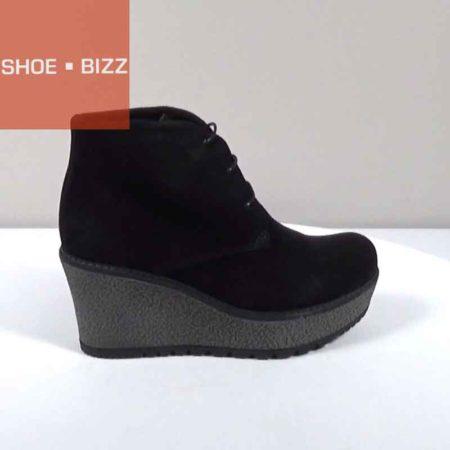 Γυναικείο Μποτάκι Casual Shoe Bizz Καστόρι Μαύρο I251.02.K Ύψος τακουνιού 8cm