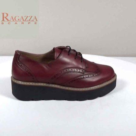 Γυναικείο Παπούτσι Δετό Ragazza Δέρμα Μπορντώ I241.0211.D Ύψος τακουνιού 4cm