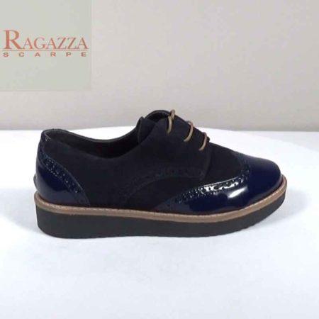 Γυναικείο Παπούτσι Δετό Ragazza Καστόρι-λουστρίνι Μπλε I241.0441.KLR