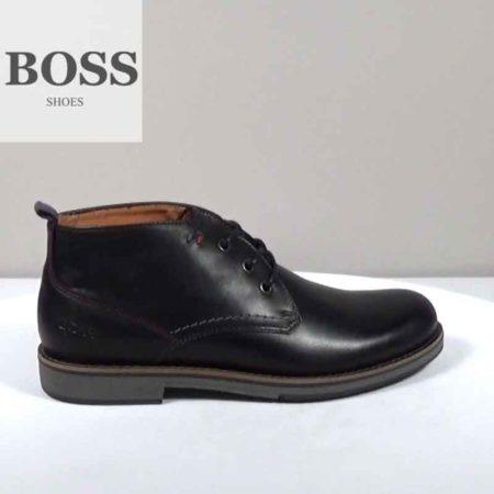 Ανδρικό Ημίμποτο Boss Shoes Δέρμα Μαύρο I202.F18092.D