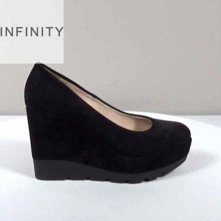Γυναικεία Πλατφόρμα Infinity Καστόρι Μαύρο I1681.200.K Ύψος τακουνιού 10