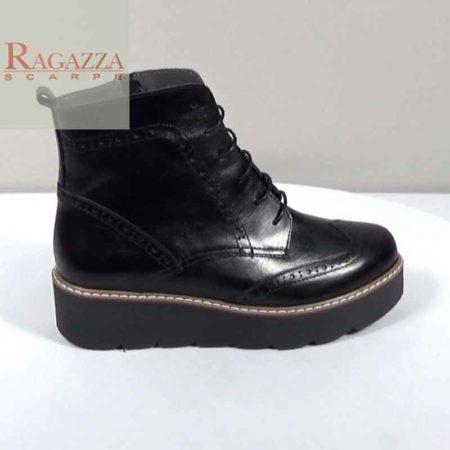Γυναικείο Μποτάκι Ragazza Δέρμα Μαύρο I241.0182/A.D Ύψος τακουνιού 4cm