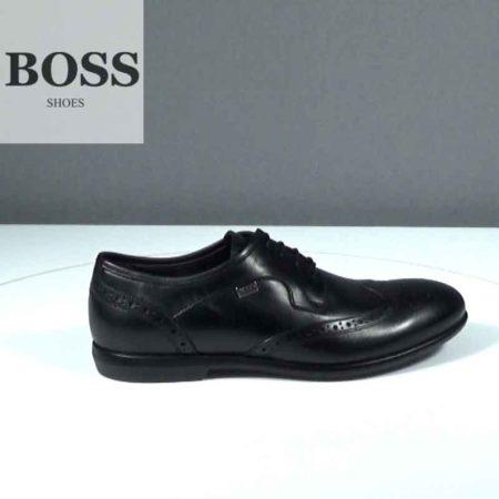 Ανδρικό Παπούτσι Δετό Boss Shoes Δέρμα Μαύρο J202.G5446.D