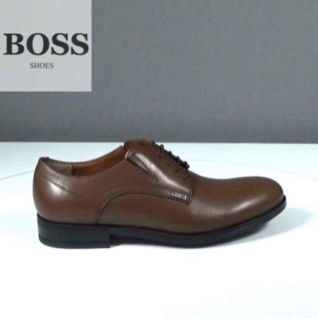 Ανδρικό Παπούτσι Δετό Boss Shoes Δέρμα Ταμπά J202.G5393.D
