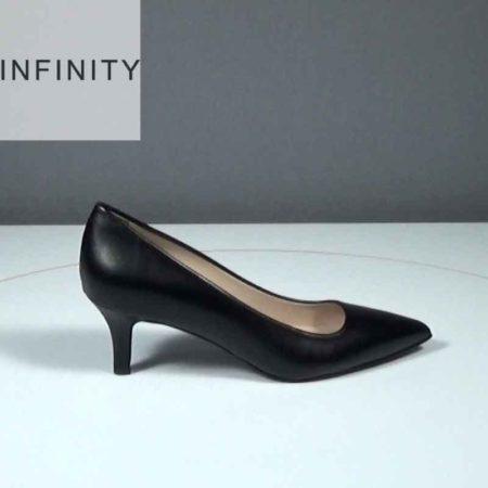 Γυναικεία Γόβα Infinity Δέρμα Μαύρο J1681.1650.D Ύψος τακουνιού 6cm
