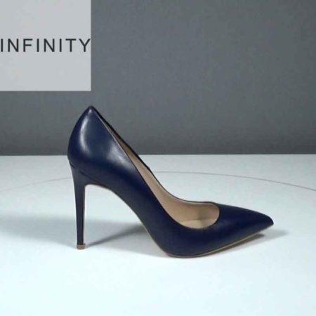Γυναικεία Γόβα Infinity Δέρμα Μπλε J1681.1690.D Ύψος τακουνιού 9