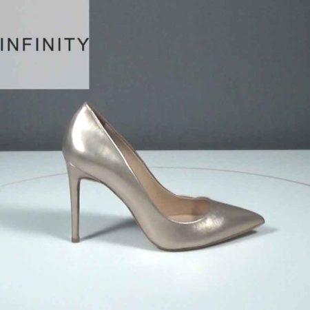 Γυναικεία Γόβα Infinity Δέρμα μεταλ. Άμμος J1681.1690.DM Ύψος τακουνιού 9