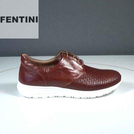 Ανδρικό Παπούτσι Δετό Fentini Δέρμα-δέρμα σταμπωτό Ταμπά J552.495-341-019-536.DDST