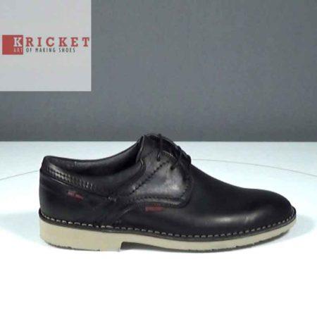 Ανδρικό Παπούτσι Δετό Kricket Δέρμα Μαύρο J212.FLEX2.D