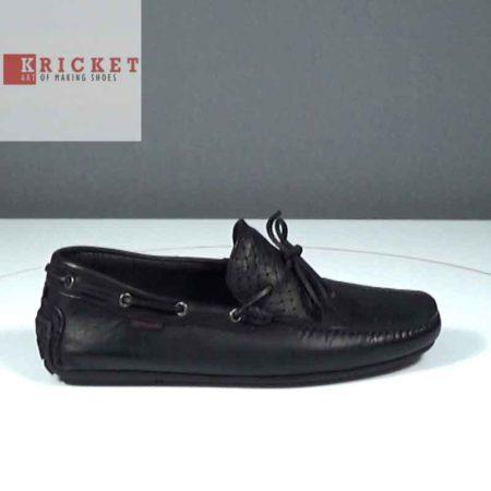 Ανδρικό Μοκασίνι Kricket Δέρμα ψαθωτό-δέρμα Μαύρο J212.NINE.DPSD