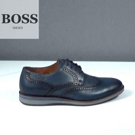 Ανδρικό Παπούτσι Δετό Boss Shoes Δέρμα Μπλε J202.G16961.D