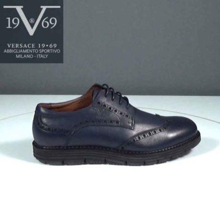 Ανδρικό Παπούτσι Δετό V 19.69 Δέρμα Μπλε J392.YOW3074-3.D