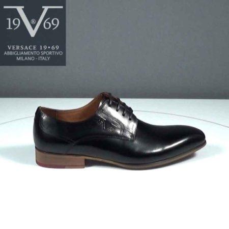 Ανδρικό Παπούτσι Δετό V 19.69 Δέρμα Μαύρο J392.YO5110-11.D