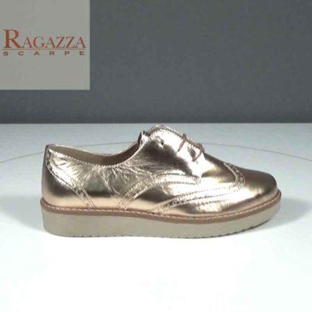 Γυναικείο Παπούτσι Δετό Ragazza Δέρμα μεταλ. Χαλκός J241.0447.DM