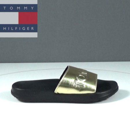Γυναικεία Σαγιονάρα Tommy Hilfiger Δέρμα συνθ. Χρυσό L271.METALLIC0227.DS