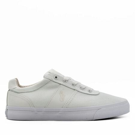 Ανδρικό Παπούτσι Χαμηλό Polo Ralph Lauren Ύφασμα-δέρμα Λευκό R522.R-HANFORD.PD