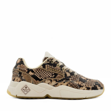 Γυναικεία Sneakers Gant Δέρμα φίδι Μπεζ-Καφέ R521.G-NICEWILL-572.DF