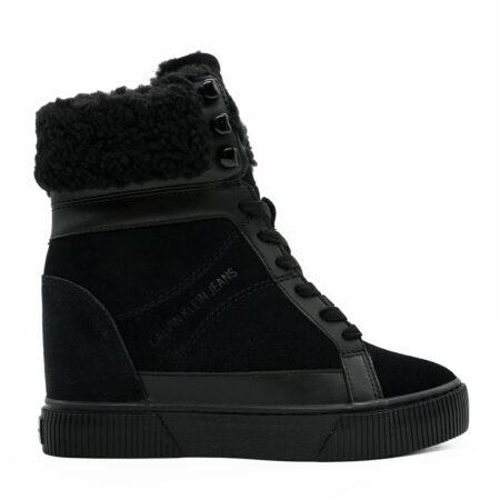 Γυναικείο Μποτάκι Calvin Klein Jeans Καστόρι-δέρμα-γούνα Μαύρο S271.CKJ-0439.KDG Ύψος τακουνιού 7