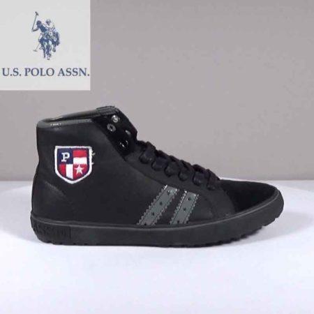 Ανδρικό Μποτάκι U.S Polo ASSN. Δέρμα-καστόρι Μαύρο G202.LANCE1.DK