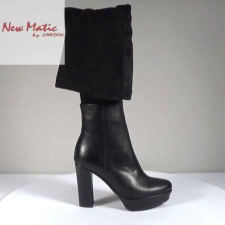 Γυναικεία Μπότα New Matic Δέρμα-καστόρι Μαύρο G221.326.DK Ύψος τακουνιού 11cm