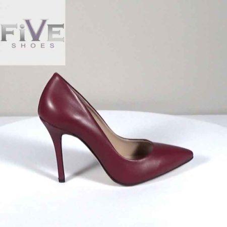Γυναικεία Γόβα Five Shoes Δέρμα Μπορντώ G721.2301C.D Ύψος τακουνιού 10cm