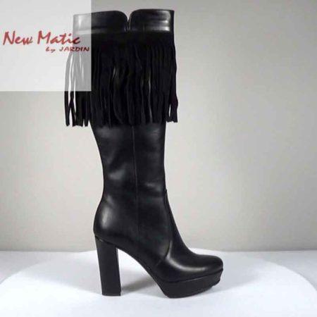 Γυναικεία Μπότα New Matic Δέρμα-καστόρι Μαύρο G221.317.DK Ύψος τακουνιού 11cm