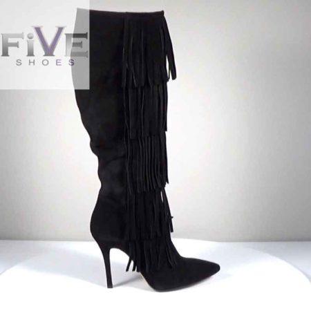 Γυναικεία Μπότα Five Shoes Καστόρι Μαύρο G721.2113.K Ύψος τακουνιού 10cm